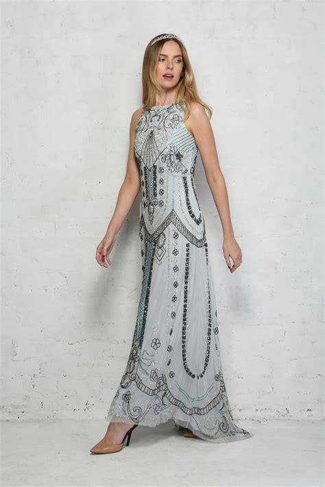 Who Wore It Better Karta Geometric Jeweled Dress by Light Blue Beaded Maxi Dress Embellished Length Dress