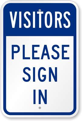 a visitor visitors sign in sign visitor sign sku k 7682