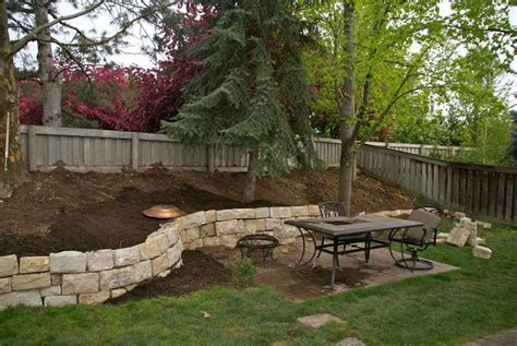 sloped backyard landscaping retaining walls for sloped backyards sloped hill in our