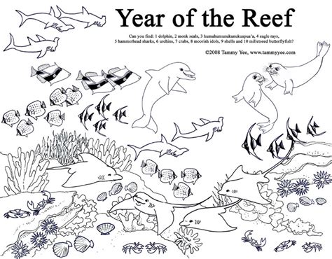 great barrier coral reef free coloring pages
