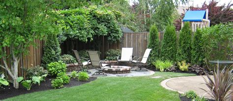 backyard at the w simple landscaping ideas for a small space simple