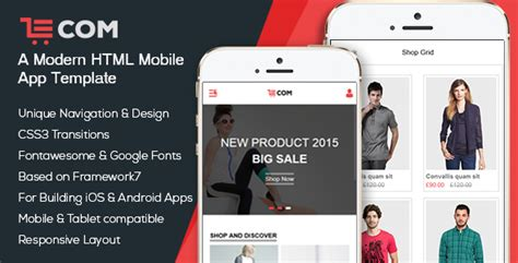 Ecom Mobile App Html Template By Bootxperts Themeforest Mobile App Html Template Free