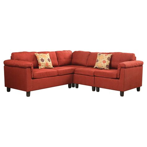 acme sectional sofa cleavon reversible sectional sofa acme ebay