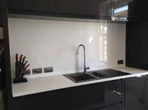 Kitchen Backsplash Height white high gloss acrylic kitchen splashback cut to size