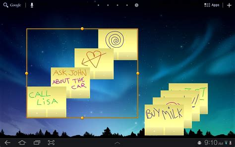 tablet widgets sticky notes hd tablet widget android apps on google play