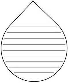 raindrop template with lines teaching language arts on sight words