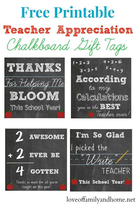 free printable quote tags free printable teacher appreciation chalkboard gift tags