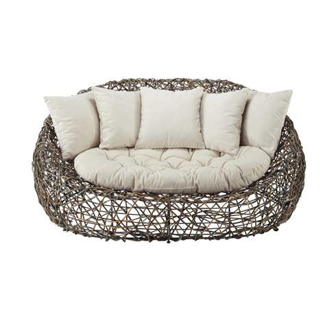 divani in rattan da esterno divano da giardino in rattan kubu 2 posti bangkok