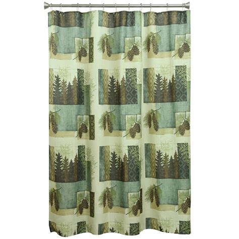 pine forest geometrics shower curtain overstock