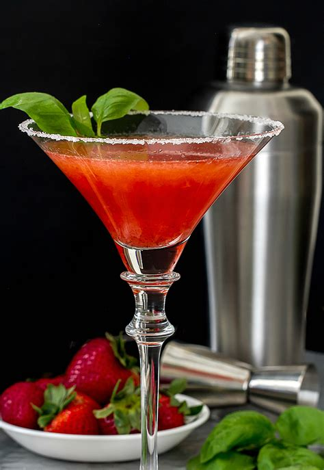martini strawberry strawberry basil martini i m bored let s go
