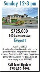 open house ad real estate homes heraldnet com everett and snohomish county washington