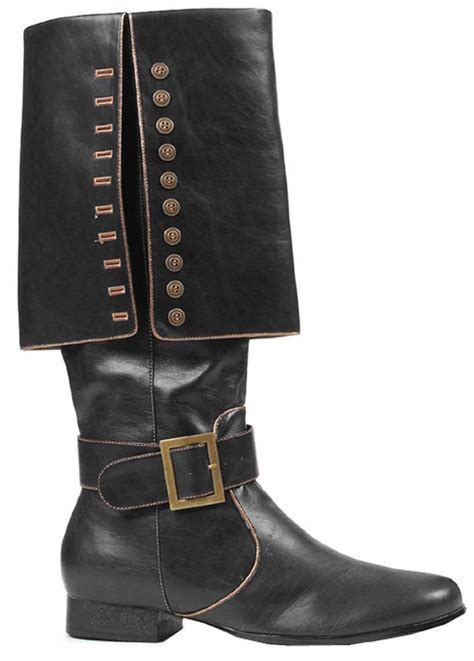 pirate boots mens deluxe buccaneer black pirate boots costume craze