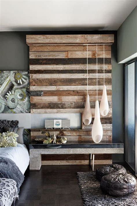 Wood Bedroom Items Add Design Texture With Reclaimed Wood Walls Home