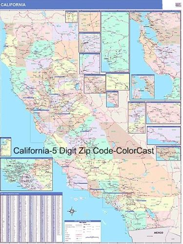 southern california zip code map california map