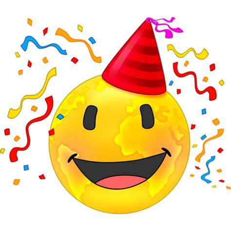 celebration emoji png emoji party celebration bing images