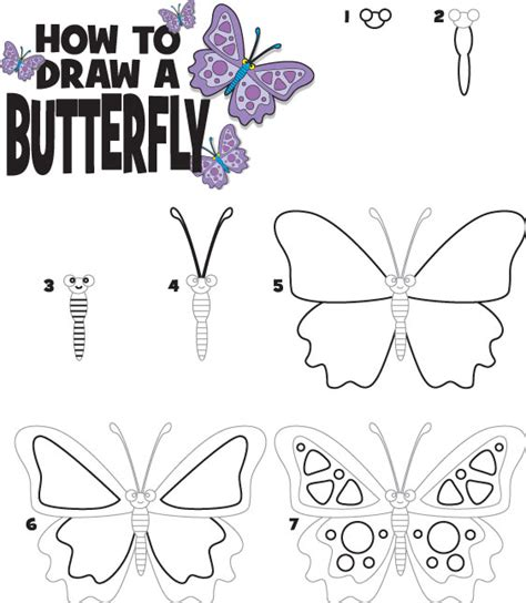 what to draw for how to draw a butterfly kid scoop