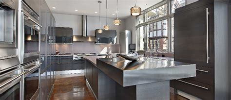 Kitchen Island With Stainless Steel Top Kitchen Countertops Choosing The Right Material Custom