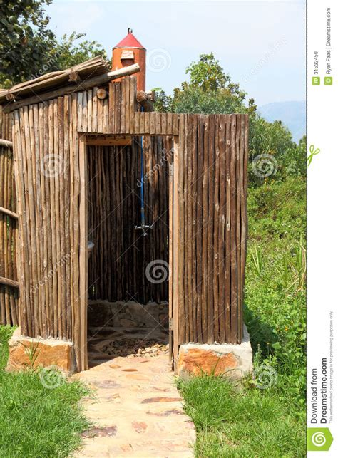 outdoor heated shower outdoor solar shower stock photo image 31532450