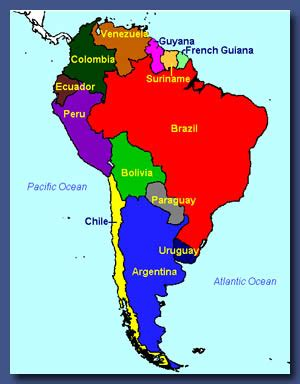south america map colored s resource attic 187 archive 187 educational bonanza