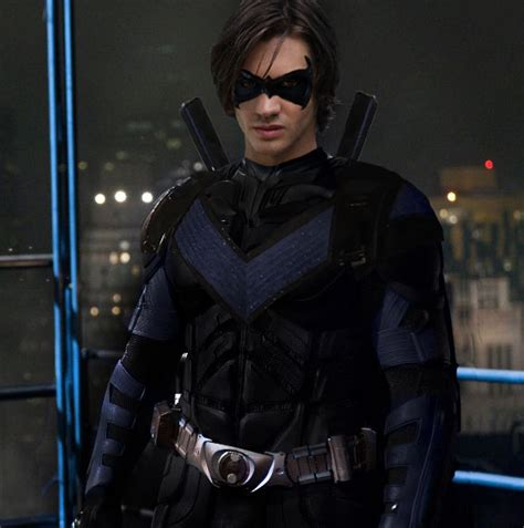 nightwing hairstyle the arrowverse editorial cw tnt nightwing and red hood