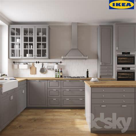 Pro Kitchen Cabinets by 3d Models Kitchen Ikea Bodbyn