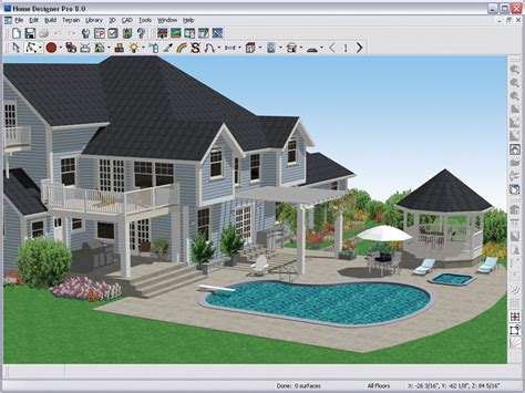 3d home landscape design 5 amazon com better homes and gardens home designer pro 8 0