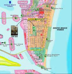 South Beach Miami Map exotic places south beach miami