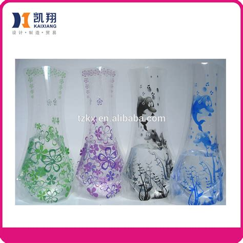 Cheap Plastic Flower Vases by Clear Plastic Vase Pe Flower Vase Promotional Cheap Flower