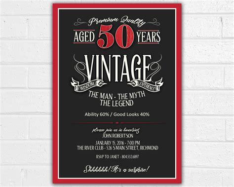 printable invitations for 50th birthday 50th birthday invitation for jpeg printable aged to