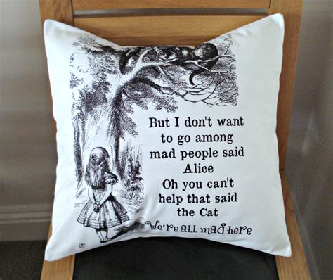 We Had Here Pillow by In Pillow We Re All Mad Here Throw By Veedubz