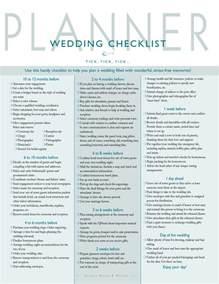 wedding checklist and planner wedding checklist wedding