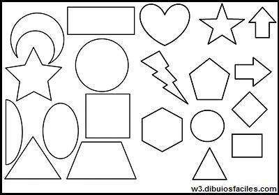 dibujos para colorear con figuras geométricas imagenes para dibujar faciles