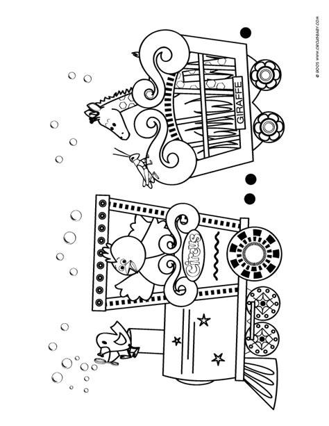 circus train coloring page free coloring pages of circus train 2