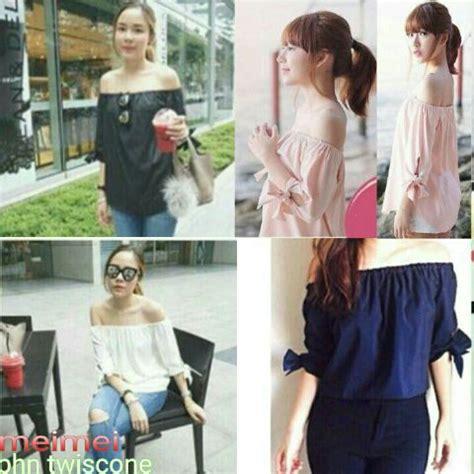 Baju Sabrina Stripe Murah Baju Kekinian baju blouse atasan wanita model terbaru cantik murah