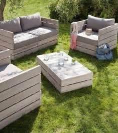 salon de jardin en palettes en bois photo salon jardin