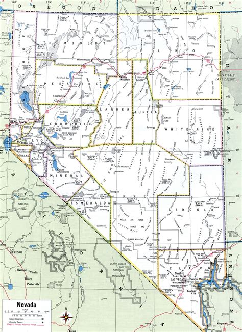 map of nevada nevada county map