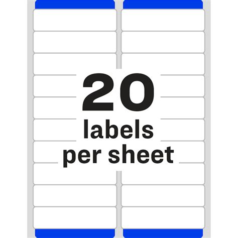 Avery Easy Peel Mailing Label Ave8461 Supplygeeks Com Avery Rectangle Labels Template