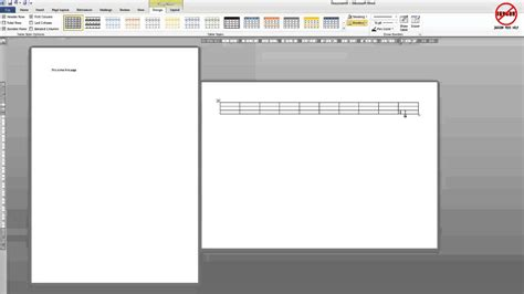 How To Make One Page In A Document Landscape