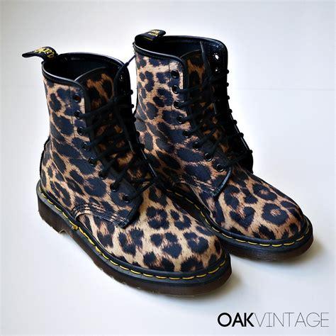 cheetah boots leopard print doc martens boots uk 4 us 6 5