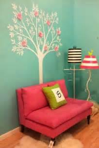 Girls bedroom blue and pinkreading nook in girls bedroom in tiffany