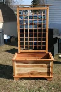 diy plans for planter box with trellis plans free