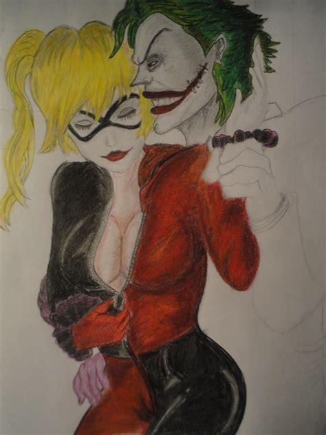 imagenes joker para dibujar dibujo pintado de harley quinn y el joker arte taringa