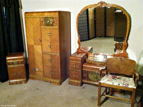 waterfall bedroom set vintage spotlight waterfall style furniture dusty old thing