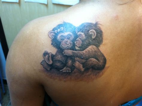 small monkey tattoo realistic monkey