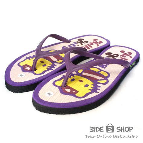 Sandal Jepit Murah 5 jual sandal jepit karakter hello ungu bingkai sendal