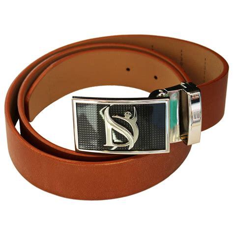 negative ion dress belt in genuine leather with buckle