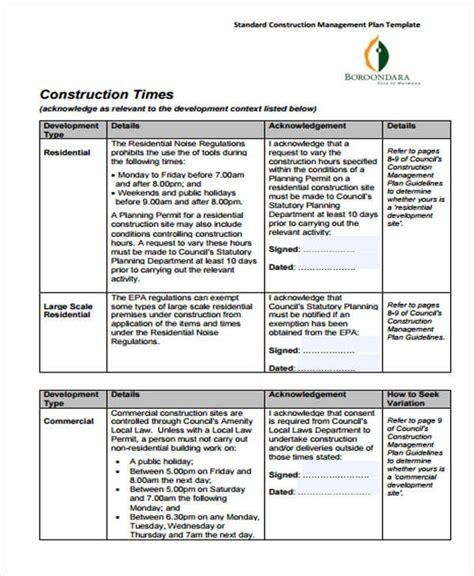 34 Management Plan Templates In Pdf Free Premium Templates Construction Business Plan Template Pdf