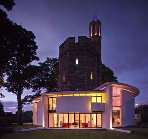 Contemporary Family Home That Looks Like a Castle : Lymm