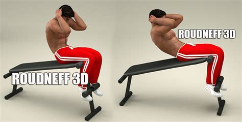 Exercice Abdo Banc Incliné by Eps Sport Figurines 3d 2 Ppg Musculation Muscles Du