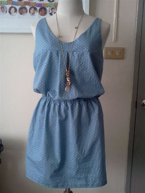 pattern dress casual casual dress in blue polkadot sewing projects